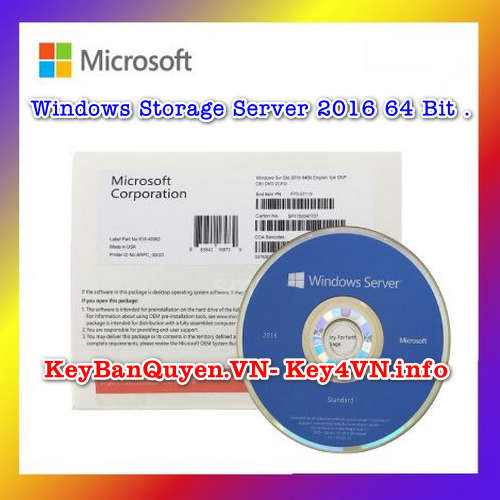 Mua bán key bản quyền Windows Storage Server 2016 .