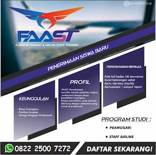 Pendaftaran Online Sekolah Staff Bandara Tahun 2019 FAAST Penerbangan