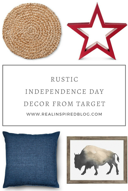 12 rustic, yet subtle, Independence Day decorations for the fourth of July! Any of these things mixed with a few small flags in a glass jar would be the perfect red, white, and blue Independence Day decor for me!