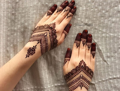 model henna pengantin
