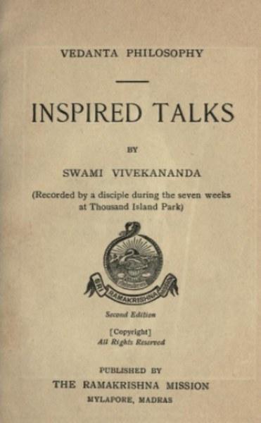 Inspired talks by Swami Vivekananda in Pdf