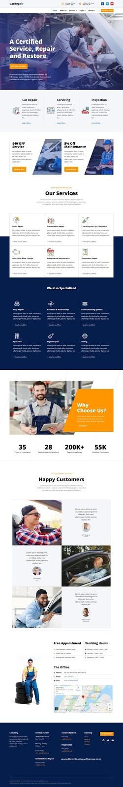 CarRepair Local Business Template Kit