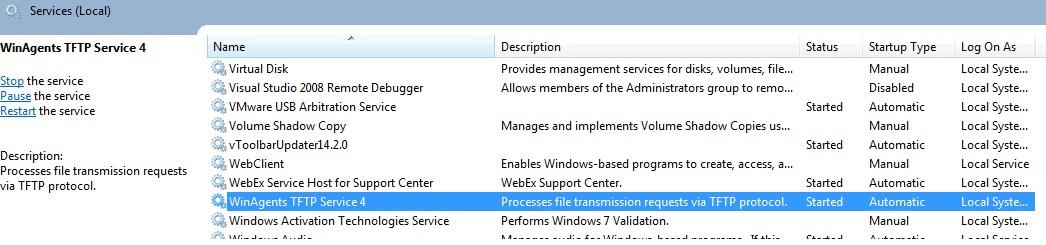 My IT Space: Windows 7 TFTP: error code 11 received - 18025