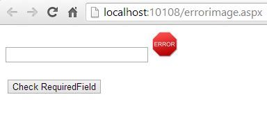 ASP.NET : How to use image in error message in validation Control
