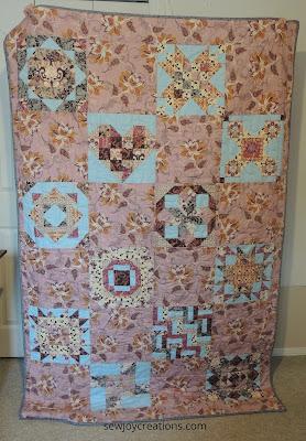 Aurifil sampler reverse quilt