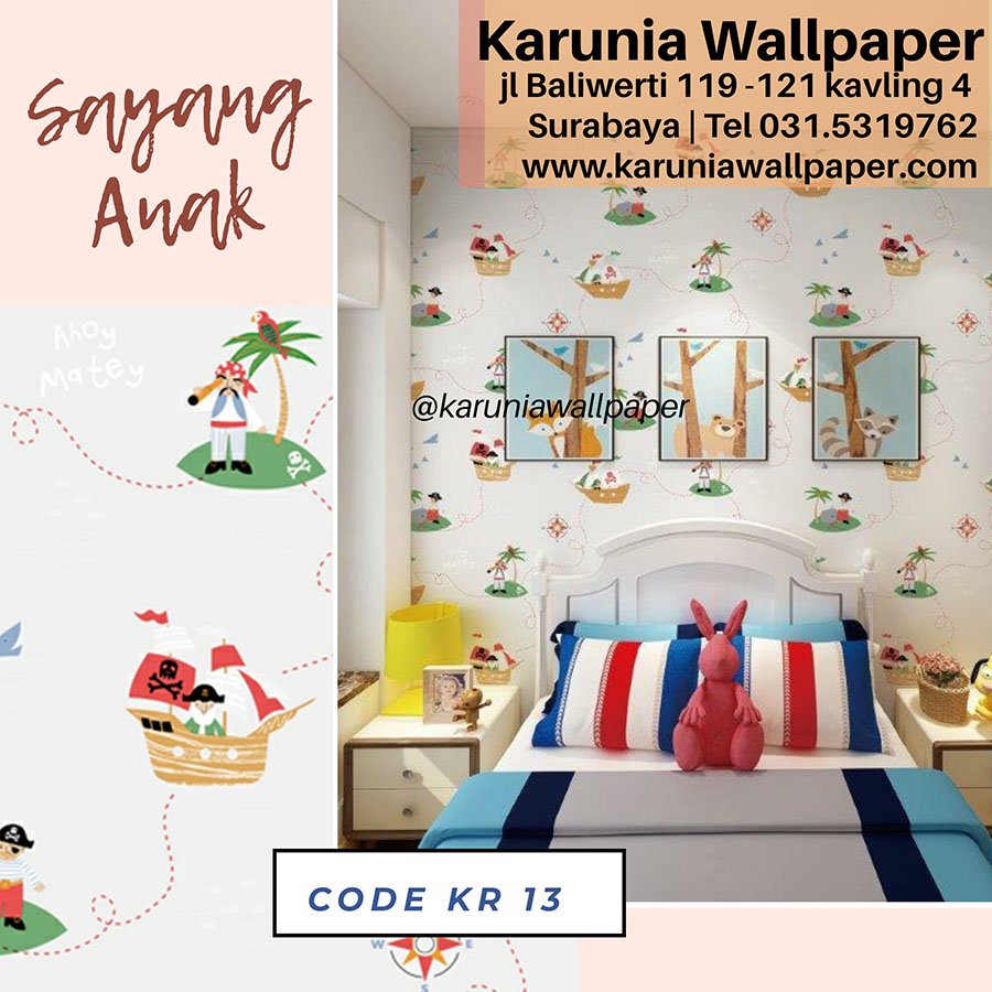wallpaper dinding kamar hiasan kamar anak