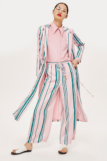 duster coat and trouser co-ord