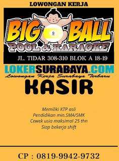 Lowongan Kerja Surabaya Terbaru di Big 9 Ball Pool & Karaoke Juni 2019