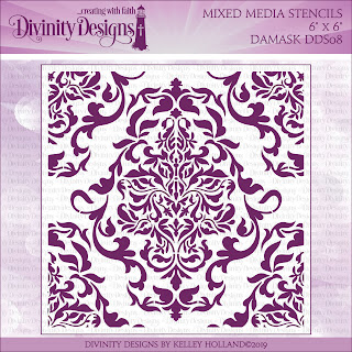 DAMASK (MIXED MEDIA STENCILS)