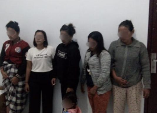 Lima wanita yang terjaring raxia di Palas