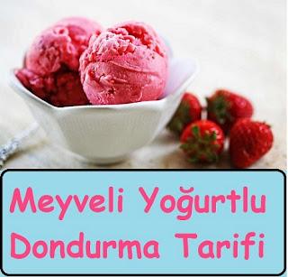 Meyveli Yoğurtlu Dondurma Tarifi