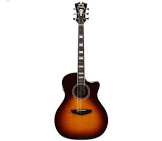$329, D'Angelico Premier Gramercy Grand Auditorium Solid Top Acoustic/Electric Guitar