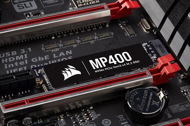 Corsair MP400 SSD Diluncurkan Dengan Kecepatan Tulis 3000MB/s