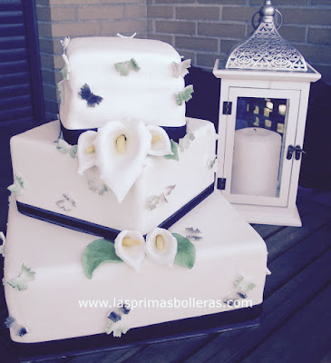 Tarta fondant boda