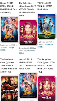 What are the Recent Movies Leaked by Bolly 4u website?