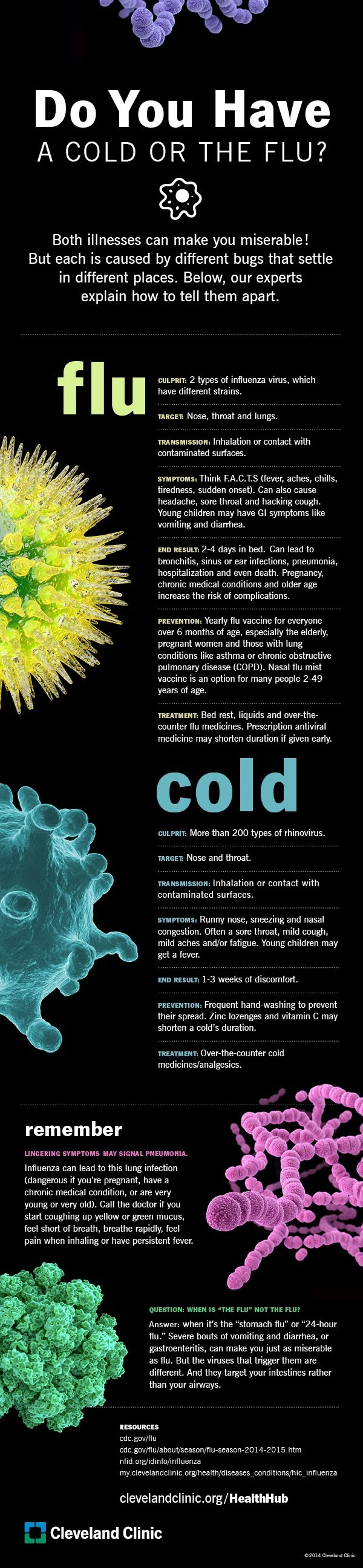 Is It a Cold or the Flu? #infographic