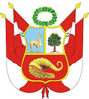 Dibujo del Escudo Nacional del Perú a colores