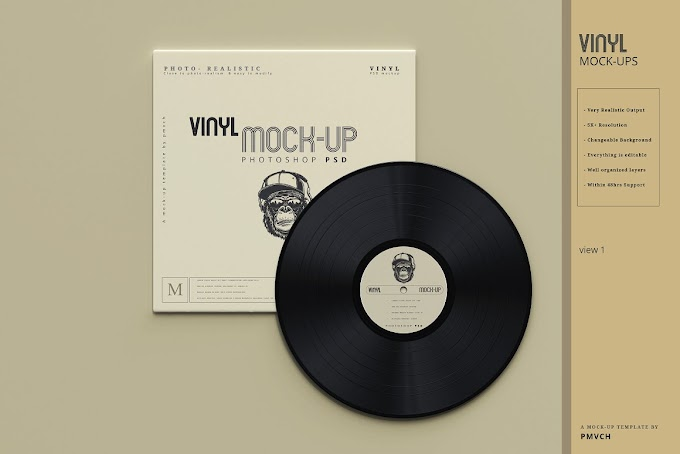 Vinyl Mockups[Photoshop][PSD][5485891]