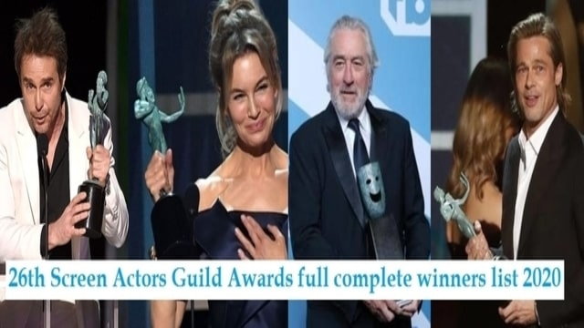 26th Screen Actors Guild Awards full complete winners list 2020