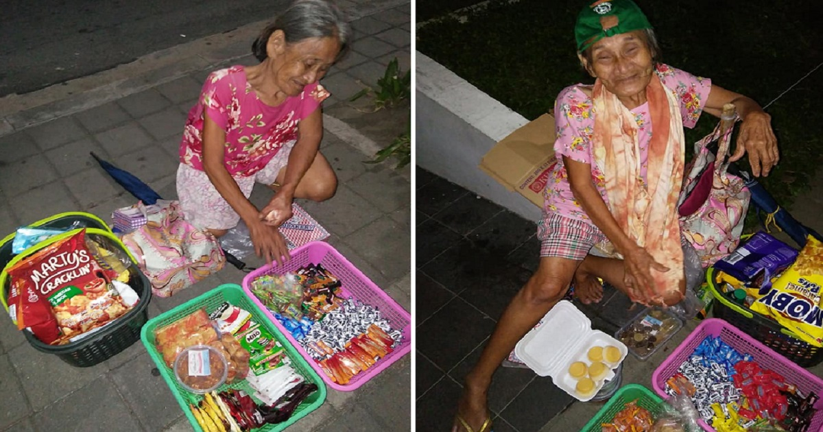 Netizen seeks help for 82-year-old grandma who still sells in the streets