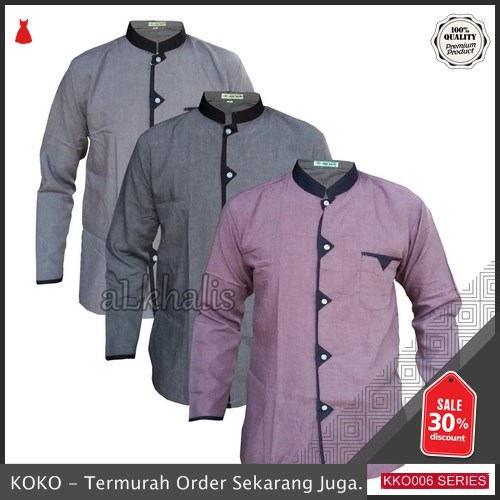KKO06 SPT906 Baju Koko Zizak Alkhalis Lengan Panjang BMGShop