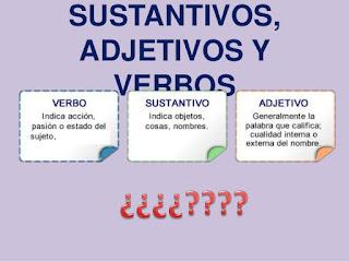 definiciones Sustantivos, adjetivos y verbos