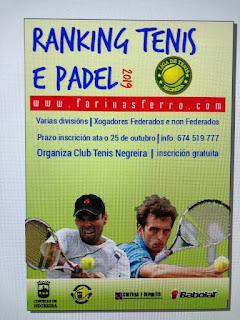 Ranking de Tenis y Padel