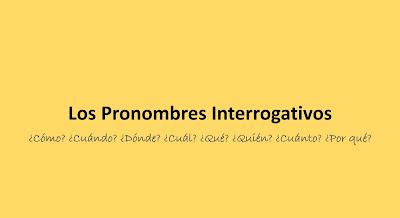 Pronomes interrogativos em espanhol