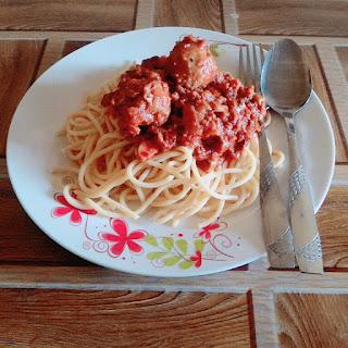 Resepi spaghetti meatball