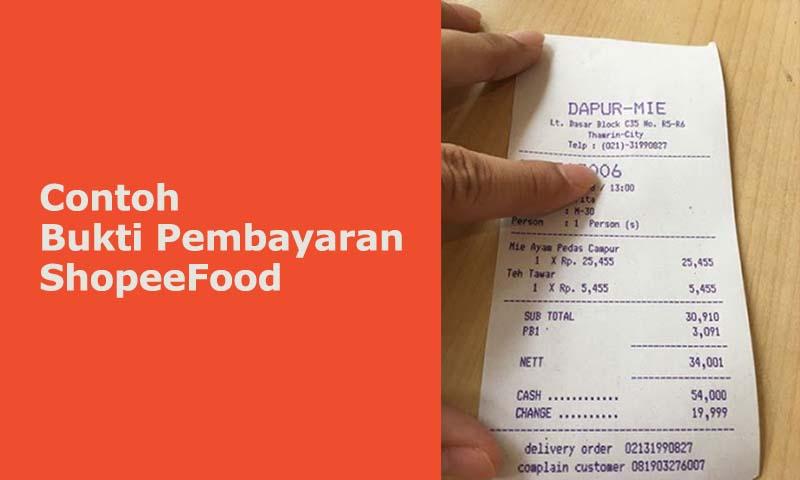 Struk pembayaran shopee food