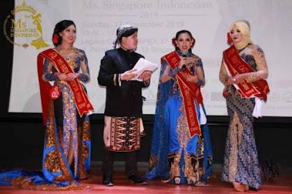 TKI Singapura Kontes Ratu Kecantikan Dan Memperkenalkan Batik Indonesia