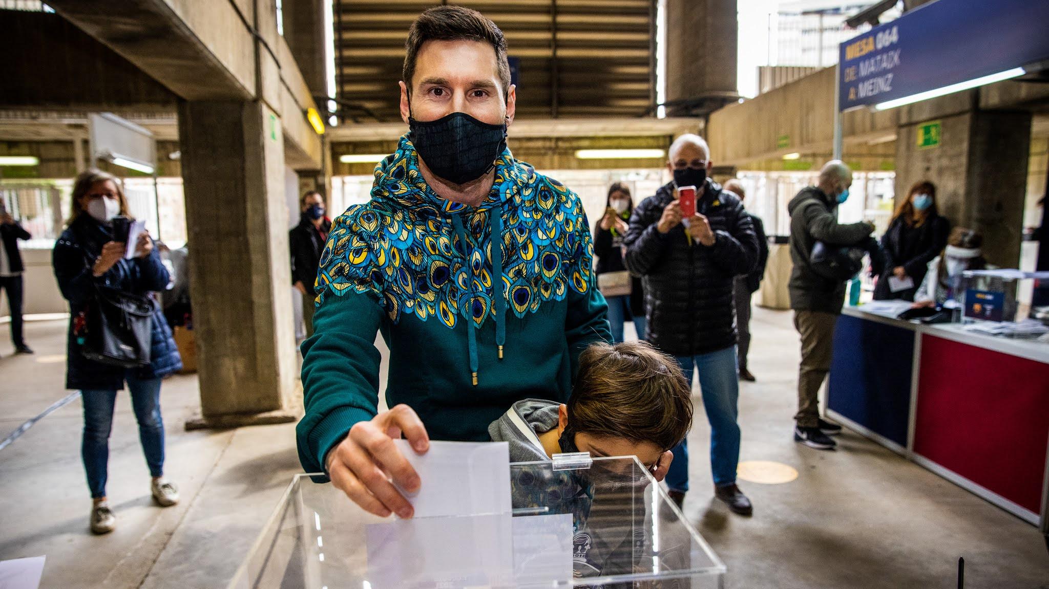 Elecciones en el Barcelona: Lionel Messi fue a votar por primera vez