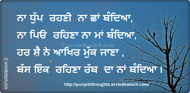 Night, darkness, father, mother, die, Punjabi Thought,