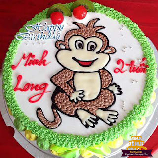 Bánh-sinh-nhật-hình-con-khỉ-hài-hước