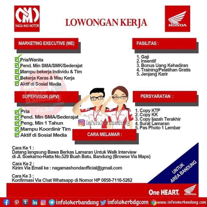 Lowongan Kerja Naga Mas Motor Bandung Juni 2021