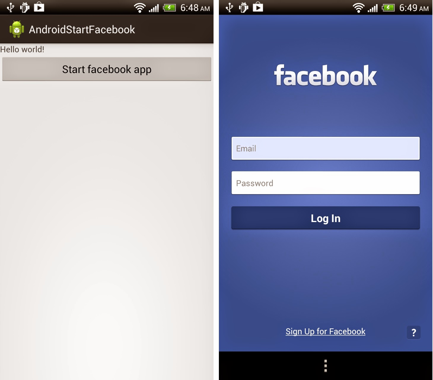 download fb app for android