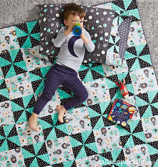 Pinwheel Pals Quilt Free Pattern