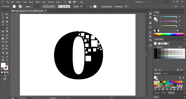 Pixel Logo Design in Adobe Illustrator