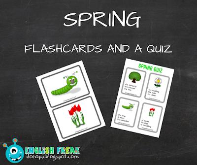 karty obrazkowe quiz wiosna