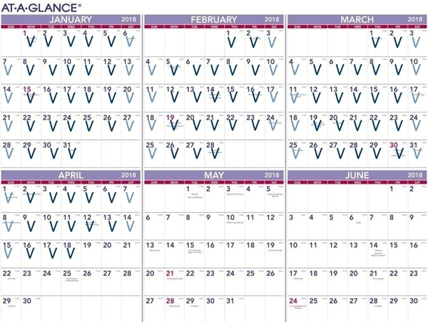 At-a-glance writing-practice victory calendar