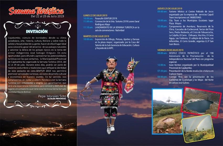 Se viene V Concurso Internacional de Pintura Rápida y la Semana Turísitca 2019 en Cajabamba