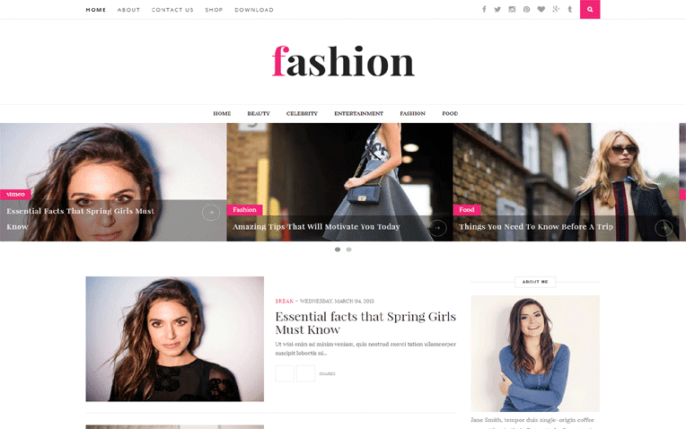 Fashion Free Blogger Template