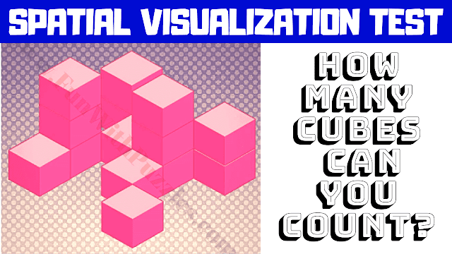 Spatial Visualization Puzzles | How many cubes can you count?