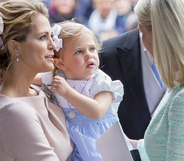 Princess Madeleine of Sweden with daughter Princess Leonore and Crown Princess Mette-Marit