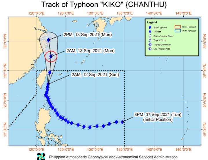 'Bagyong Kiko' PAGASA track