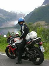 Lofootit matkailu moottoripyörä