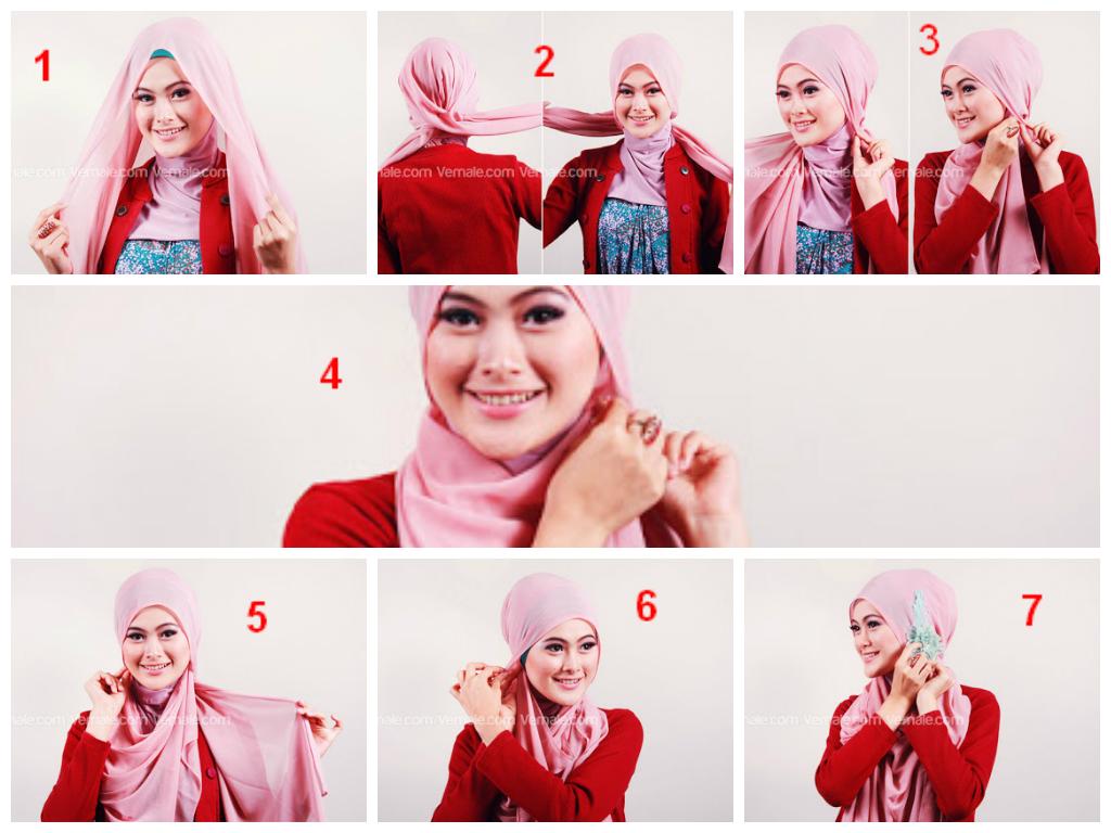 Tutorial Hijab Segi Empat Lilit Leher Tutorial Hijab Paling Dicari