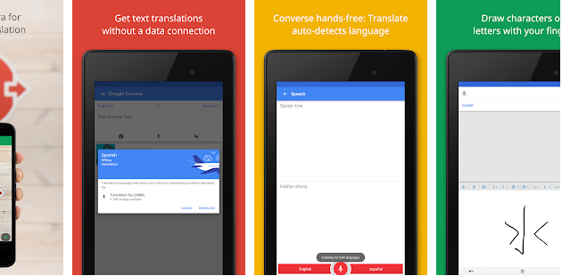 Google translate English to Spanish