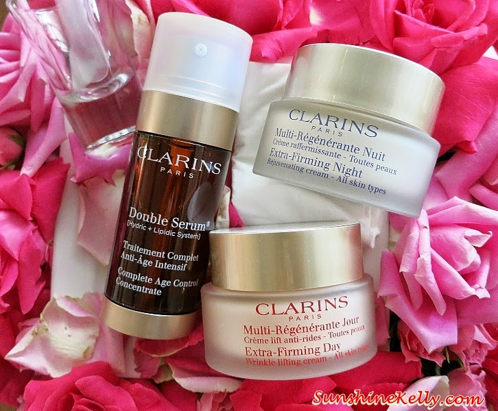 Clarins Extra Firming Eye Complete Rejuvenating Cream Review, Beauty Review, anti aging eye cream, anti aging, clarins, Clarins Double Serum, Clarins Extra-Firming Day Cream, Clarins Extra-Firming Night Cream