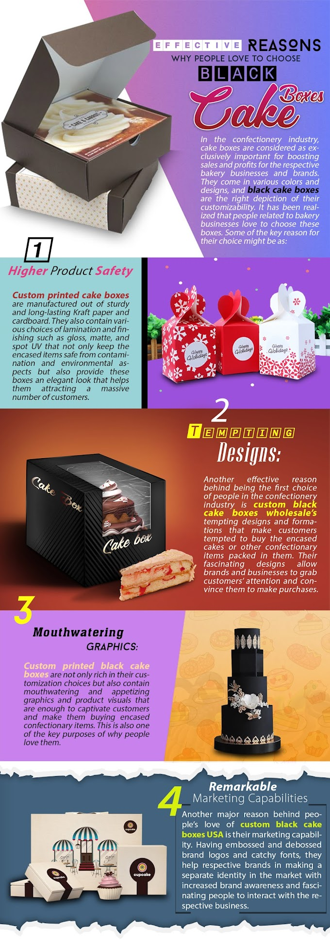 Effective Reasons Why People love to Choose Black Cake Boxes